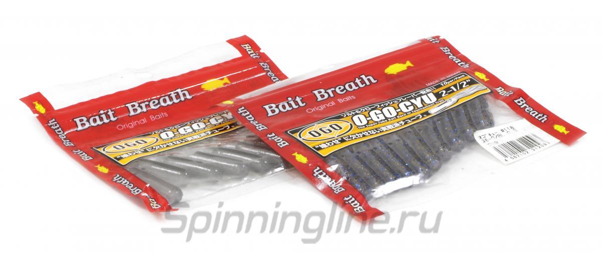 """Приманка Bait Breath O-Go-Cyu 2,5"""" white pearl silver 119 - Данное фото демонстрирует вид упаковки, а не товара. Товар на фото может отличаться по цвету, комплектации и т.д. Дизайн упаковки может быть изменен производителем 1"""