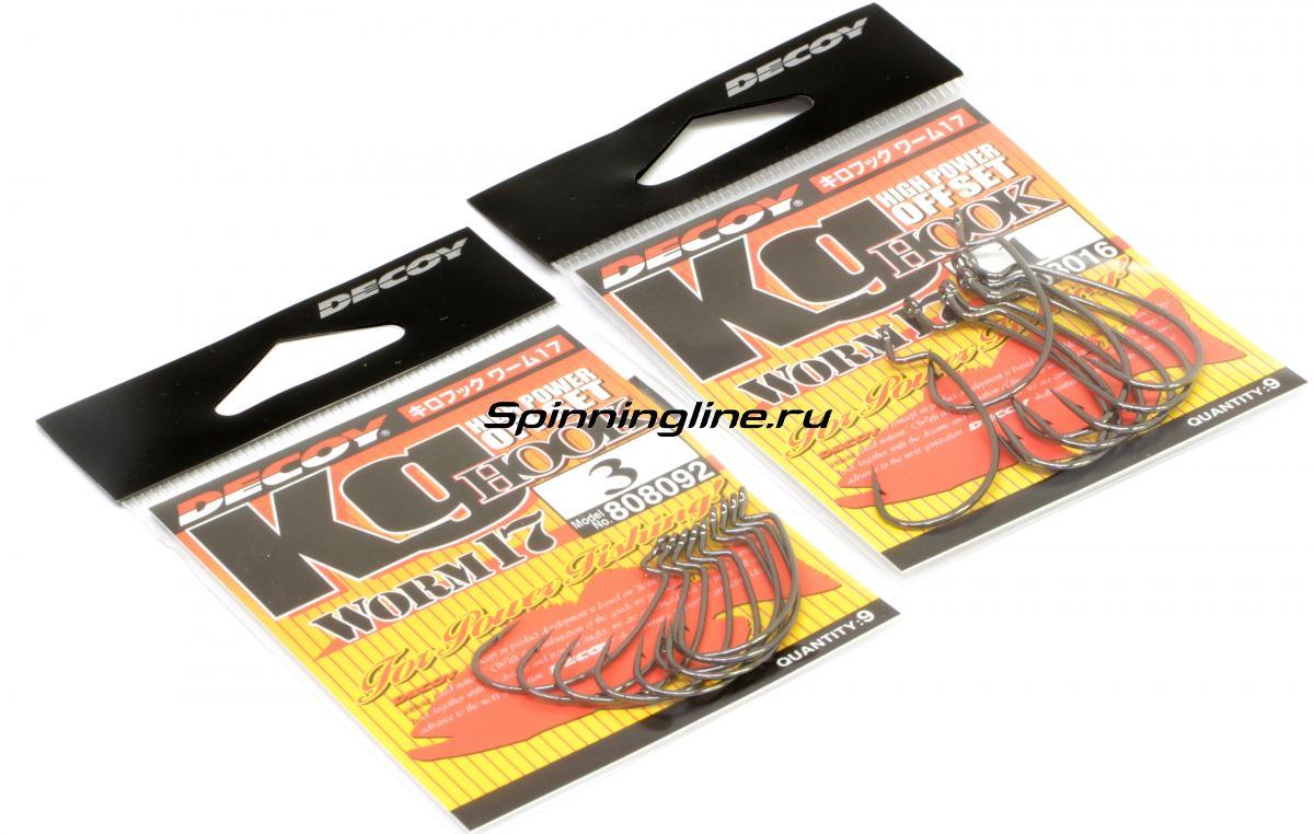 Крючок Decoy Kig Hook Worm 17 №2 - Данное фото демонстрирует вид упаковки, а не товара. Товар на фото может отличаться по цвету, комплектации и т.д. Дизайн упаковки может быть изменен производителем 1