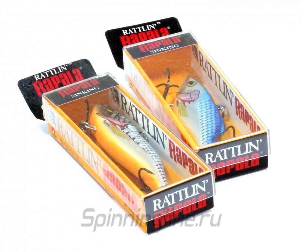 Воблер Rapala Rattlin 08 CHS - Данное фото демонстрирует вид упаковки, а не товара. Товар на фото может отличаться по цвету, комплектации и т.д. Дизайн упаковки может быть изменен производителем 1