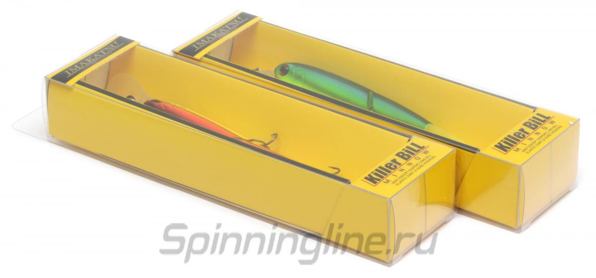 Воблер Imakatsu Killer Bill Minnow 125SP 45 Matt Hot Tiger - Данное фото демонстрирует вид упаковки, а не товара. Товар на фото может отличаться по цвету, комплектации и т.д. Дизайн упаковки может быть изменен производителем 1