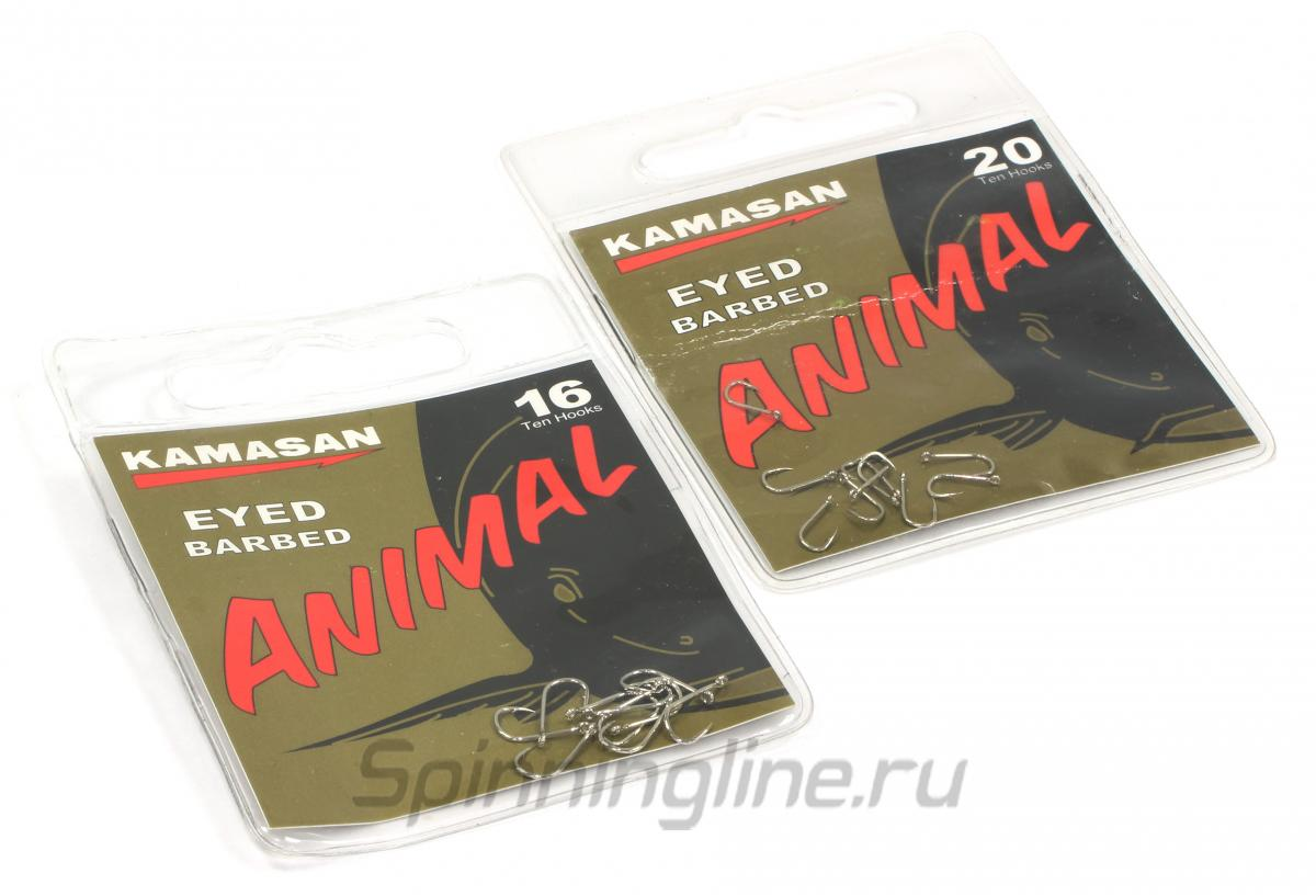 Крючок Kamasan Animal Eyed №12 - Данное фото демонстрирует вид упаковки, а не товара. Товар на фото может отличаться по цвету, комплектации и т.д. Дизайн упаковки может быть изменен производителем 1