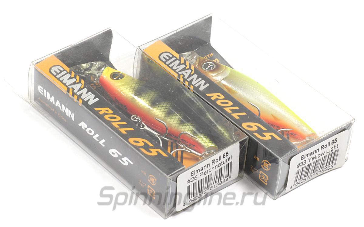 Воблер Izumi Eimann Roll 65 31 - Данное фото демонстрирует вид упаковки, а не товара. Товар на фото может отличаться по цвету, комплектации и т.д. Дизайн упаковки может быть изменен производителем 1