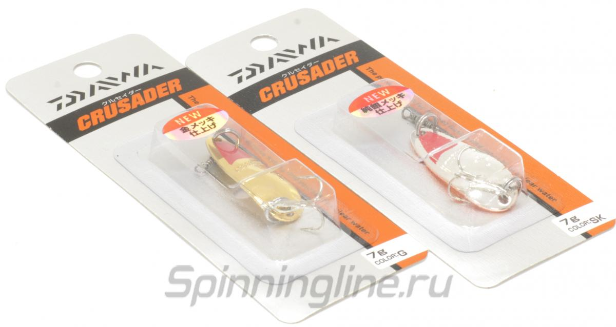 Блесна Daiwa Crusader 7 G - Данное фото демонстрирует вид упаковки, а не товара. Товар на фото может отличаться по цвету, комплектации и т.д. Дизайн упаковки может быть изменен производителем 1