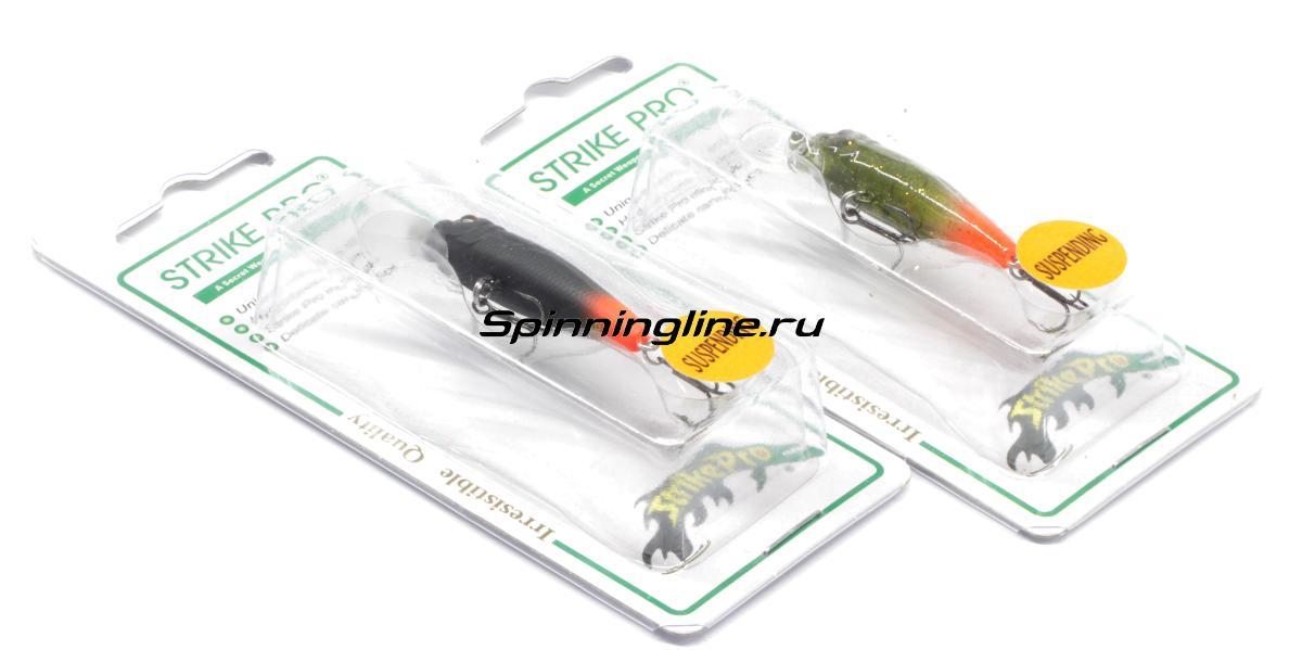 Воблер Strike Pro EG-074SP A17 - Данное фото демонстрирует вид упаковки, а не товара. Товар на фото может отличаться по цвету, комплектации и т.д. Дизайн упаковки может быть изменен производителем 1