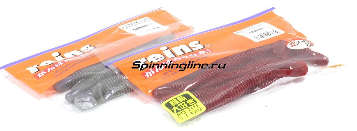 """Приманка Reins Bubbring Shad 4"""" 409 Slice Fish - Данное фото демонстрирует вид упаковки, а не товара. Товар на фото может отличаться по цвету, комплектации и т.д. Дизайн упаковки может быть изменен производителем 1"""
