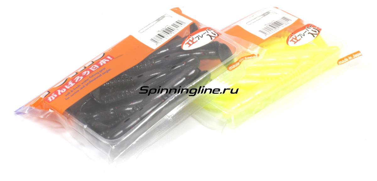 """Приманка Reins Rockvibe Shad 2"""" 301 Black Red - Данное фото демонстрирует вид упаковки, а не товара. Товар на фото может отличаться по цвету, комплектации и т.д. Дизайн упаковки может быть изменен производителем 1"""