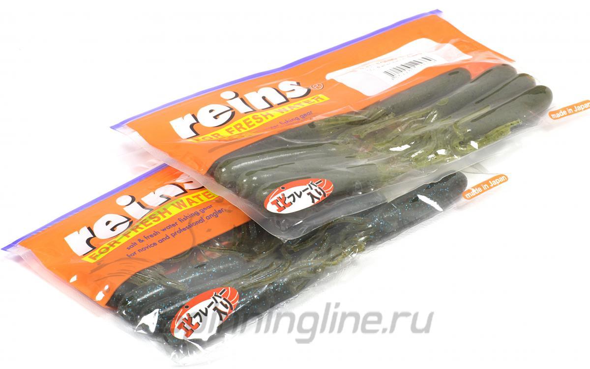 """Приманка Reins Tube Legend 3.5"""" B09 Smoke Mustard - Данное фото демонстрирует вид упаковки, а не товара. Товар на фото может отличаться по цвету, комплектации и т.д. Дизайн упаковки может быть изменен производителем 1"""