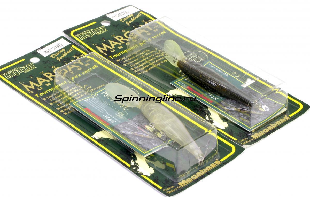 Воблер Megabass Live-X Margay Tungsten gg megabass kinkuro - Данное фото демонстрирует вид упаковки, а не товара. Товар на фото может отличаться по цвету, комплектации и т.д. Дизайн упаковки может быть изменен производителем 1
