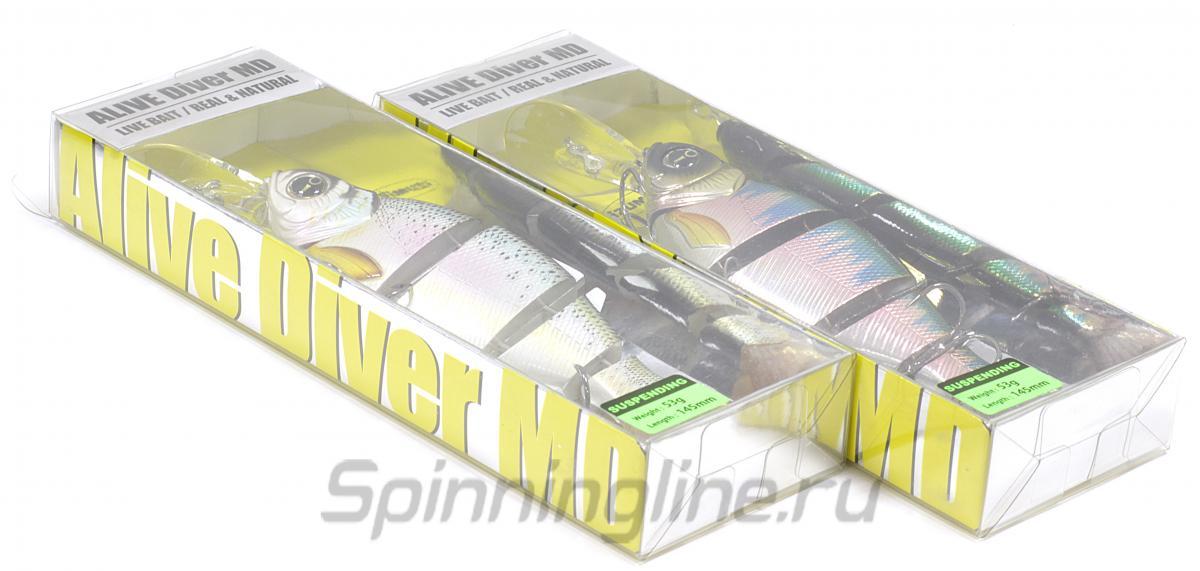 Воблер Izumi Lip Shad Alive 105 SU MD 04 - Данное фото демонстрирует вид упаковки, а не товара. Товар на фото может отличаться по цвету, комплектации и т.д. Дизайн упаковки может быть изменен производителем 1