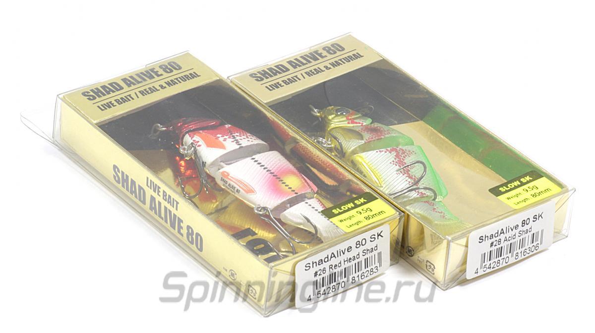 Воблер Izumi Shad Alive 80 FSK-01 - Данное фото демонстрирует вид упаковки, а не товара. Товар на фото может отличаться по цвету, комплектации и т.д. Дизайн упаковки может быть изменен производителем 1