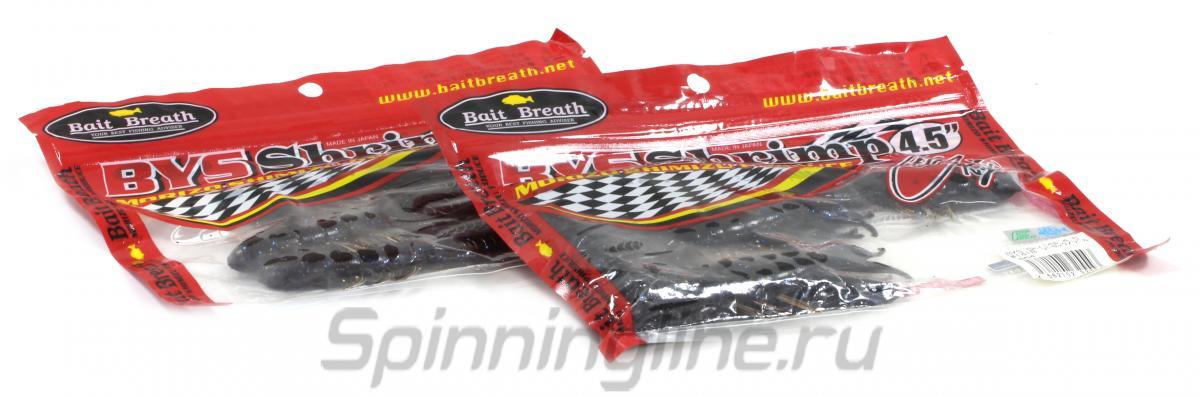 """Приманка Bait Breath Bys Shrimp 4.5"""" black/red 140B - Данное фото демонстрирует вид упаковки, а не товара. Товар на фото может отличаться по цвету, комплектации и т.д. Дизайн упаковки может быть изменен производителем 1"""
