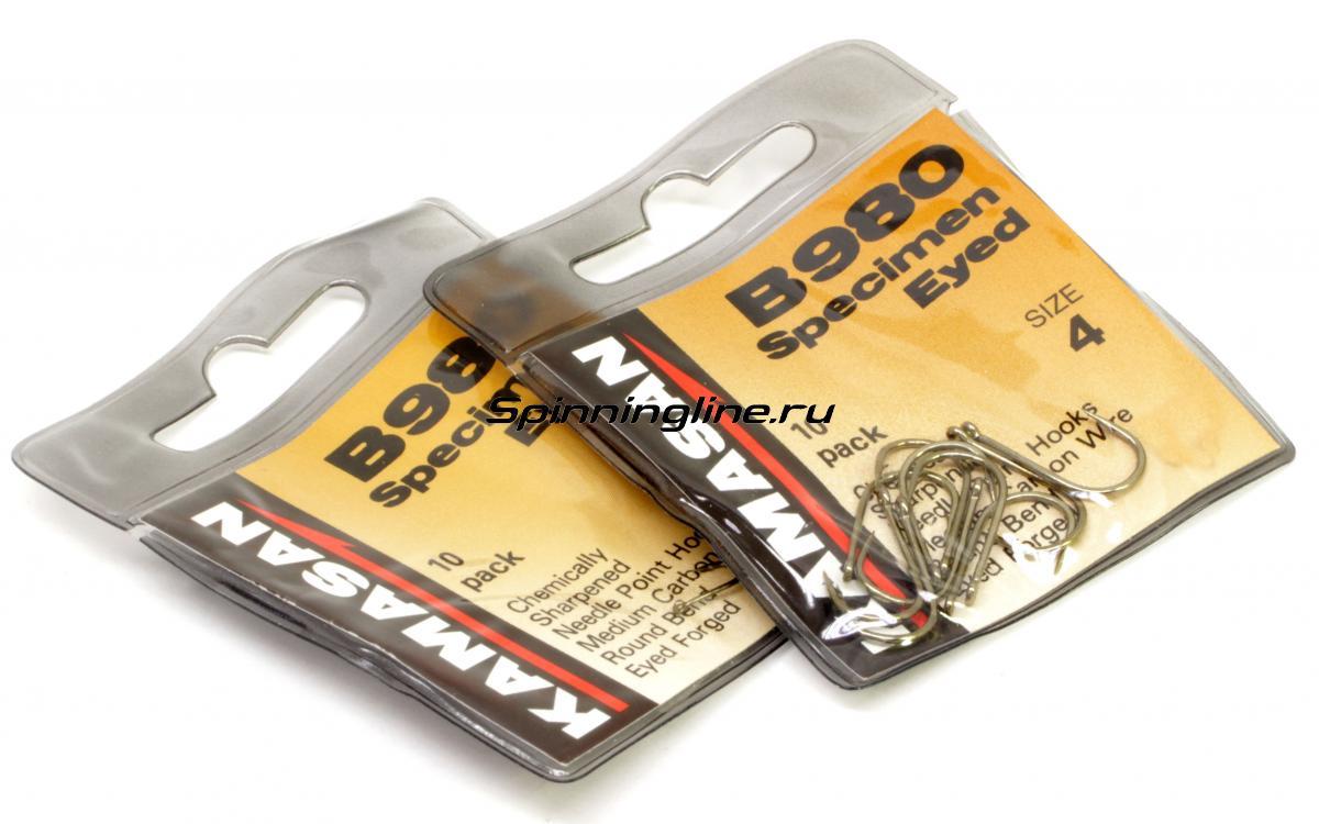 Крючок Kamasan B 980 №18 - Данное фото демонстрирует вид упаковки, а не товара. Товар на фото может отличаться по цвету, комплектации и т.д. Дизайн упаковки может быть изменен производителем 1