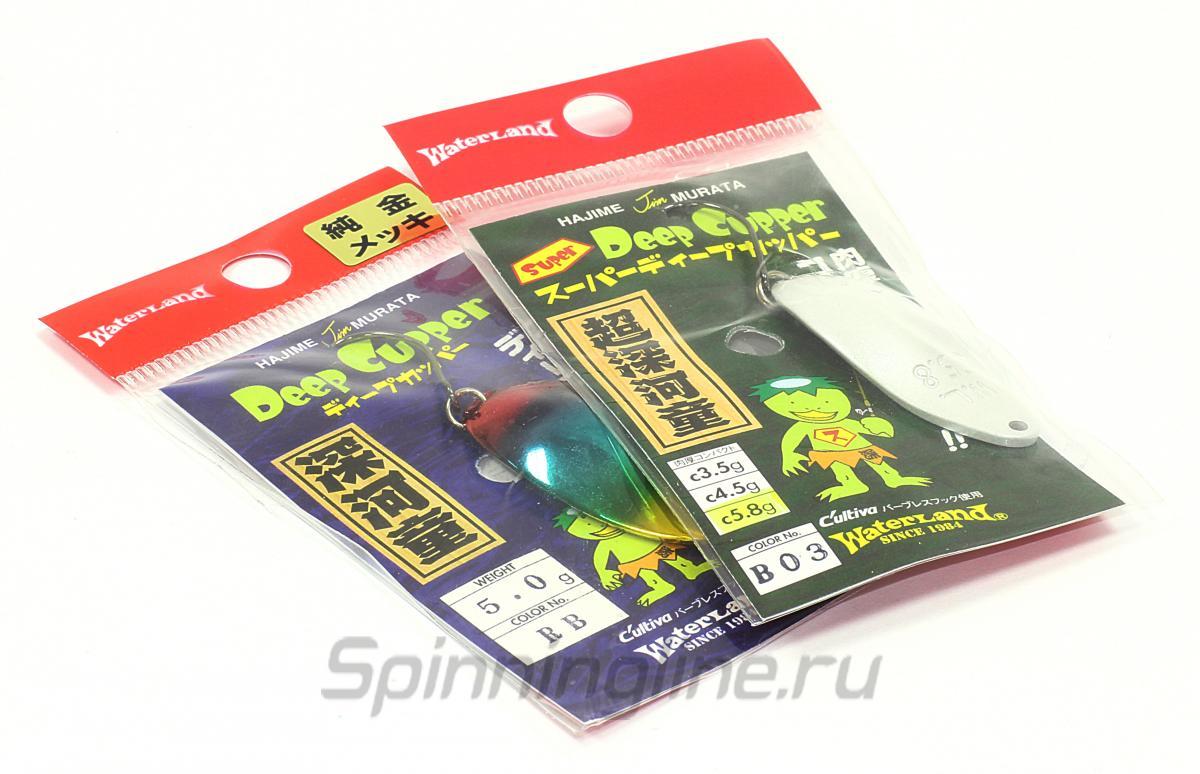 Блесна Waterland Deep Cupper 4,5гр N13 - Данное фото демонстрирует вид упаковки, а не товара. Товар на фото может отличаться по цвету, комплектации и т.д. Дизайн упаковки может быть изменен производителем 1