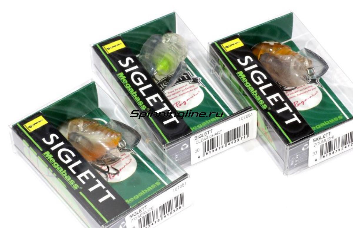 Воблер Megabass Siglett tsuku tsuku boshi - Данное фото демонстрирует вид упаковки, а не товара. Товар на фото может отличаться по цвету, комплектации и т.д. Дизайн упаковки может быть изменен производителем 1