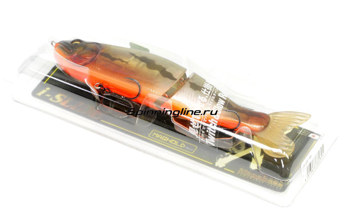 Воблер Megabass I-Slide 185 hasu - Данное фото демонстрирует вид упаковки, а не товара. Товар на фото может отличаться по цвету, комплектации и т.д. Дизайн упаковки может быть изменен производителем 1