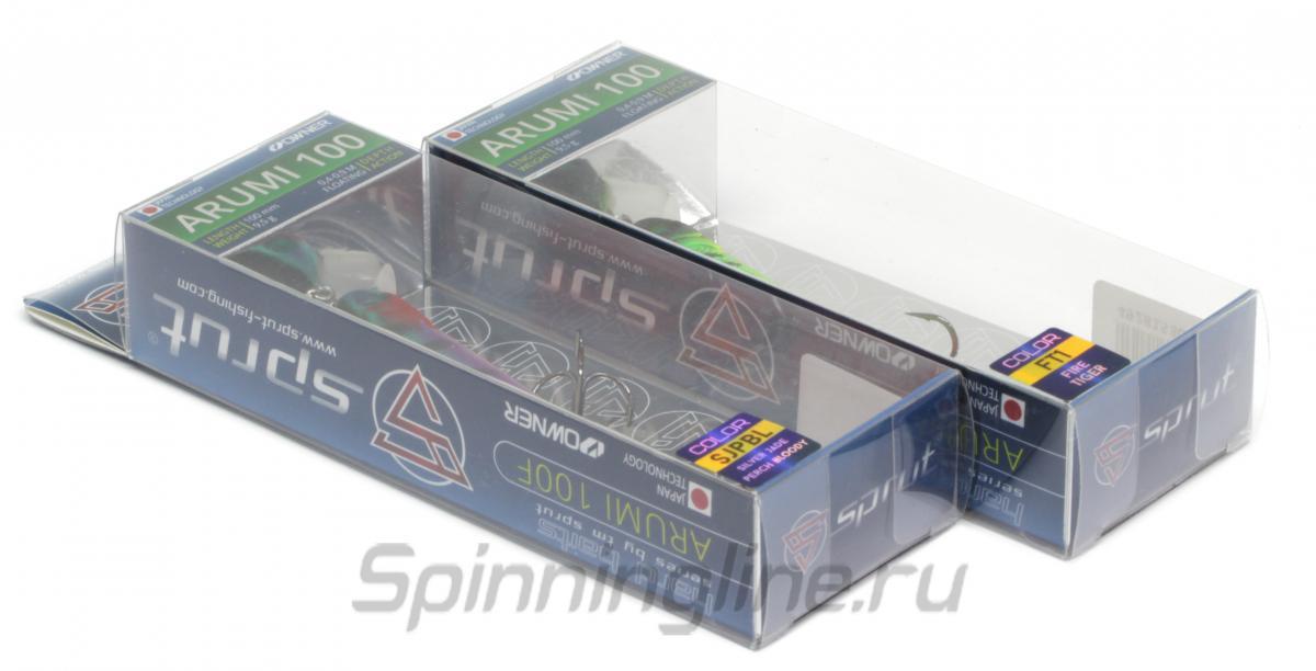Воблер Sprut Arumi 100F SBK - Данное фото демонстрирует вид упаковки, а не товара. Товар на фото может отличаться по цвету, комплектации и т.д. Дизайн упаковки может быть изменен производителем 1