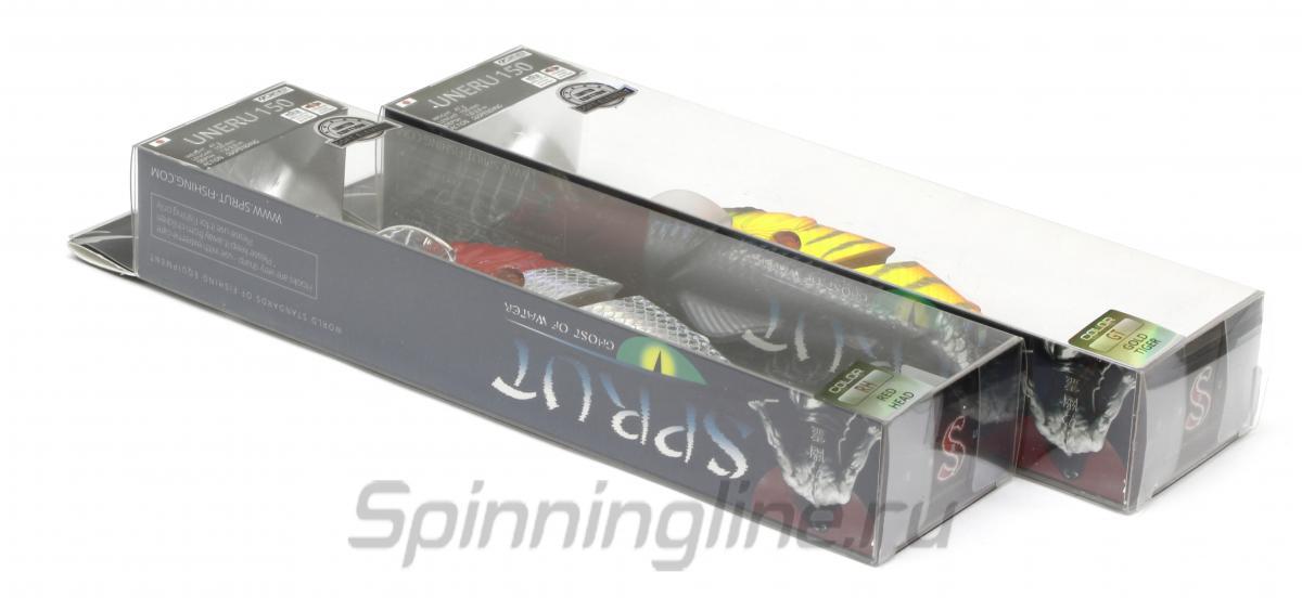 Воблер Sprut Uneru 150SP BRTR - Данное фото демонстрирует вид упаковки, а не товара. Товар на фото может отличаться по цвету, комплектации и т.д. Дизайн упаковки может быть изменен производителем 1
