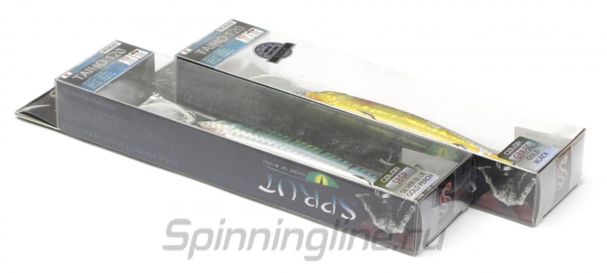 Воблер Sprut Taiho 120F WL - Данное фото демонстрирует вид упаковки, а не товара. Товар на фото может отличаться по цвету, комплектации и т.д. Дизайн упаковки может быть изменен производителем 1