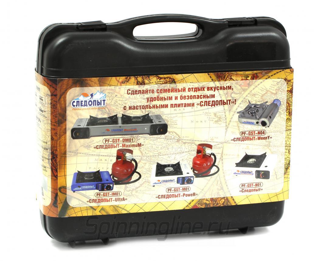 Газовая плита Следопыт Deluxe - Данное фото демонстрирует вид упаковки, а не товара. Товар на фото может отличаться по цвету, комплектации и т.д. Дизайн упаковки может быть изменен производителем 1