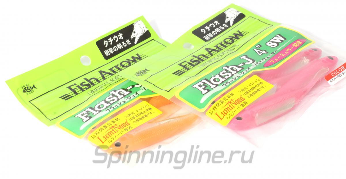 """Приманка Flash J 4"""" SW 129 Kisu/Silver - фотография упаковки (дизайн упаковки может быть изменен производителем) 1"""