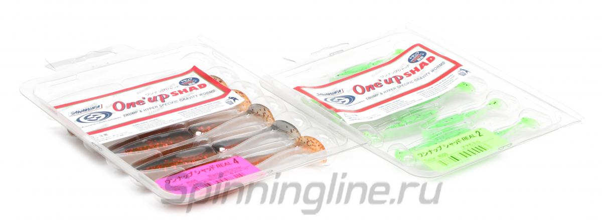Приманка Sawamura OneUp Shad 3 35 - Данное фото демонстрирует вид упаковки, а не товара. Товар на фото может отличаться по цвету, комплектации и т.д. Дизайн упаковки может быть изменен производителем 1