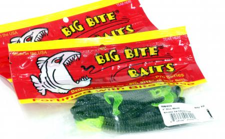 Big Bite Baits - Disc Worm 4-32 Bumbble Gum Chartreuse Tail - ���������� ��������