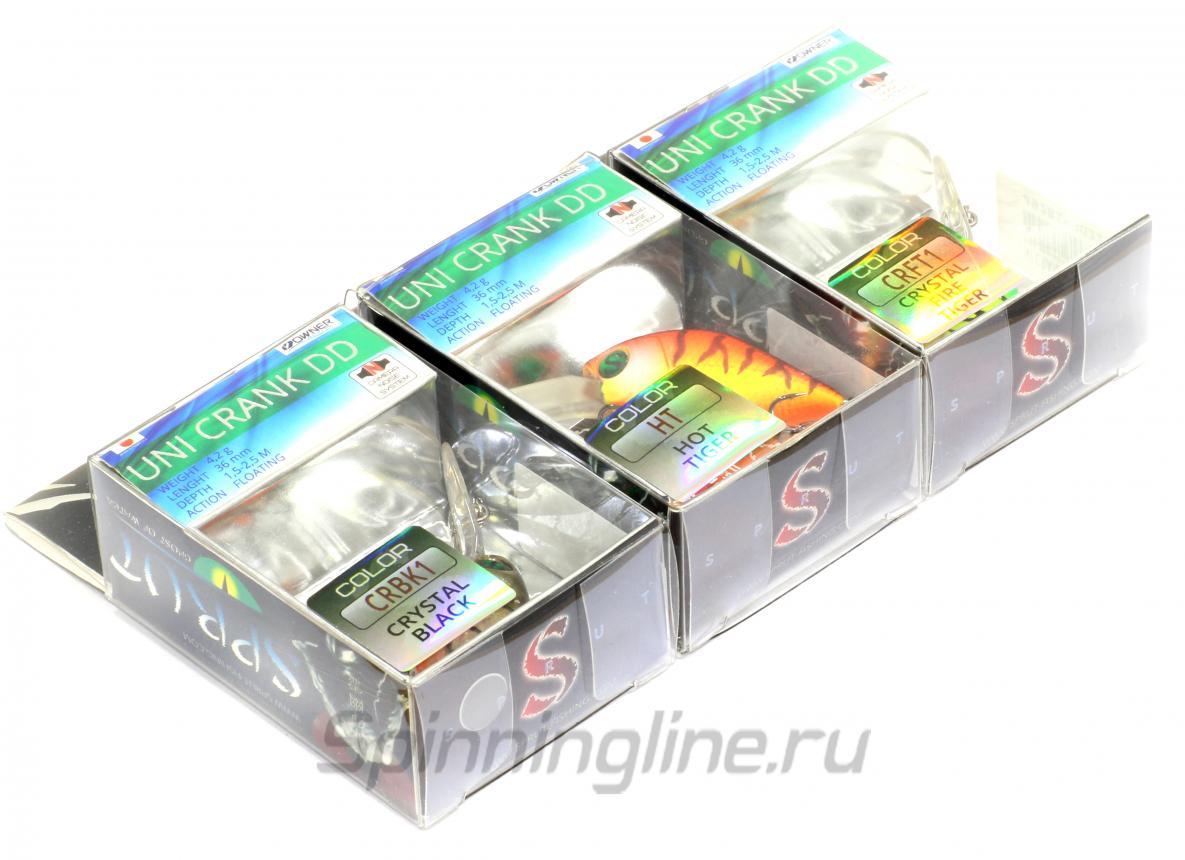 Воблер Uni Crank DD 36F CRBK1 - фотография упаковки 1