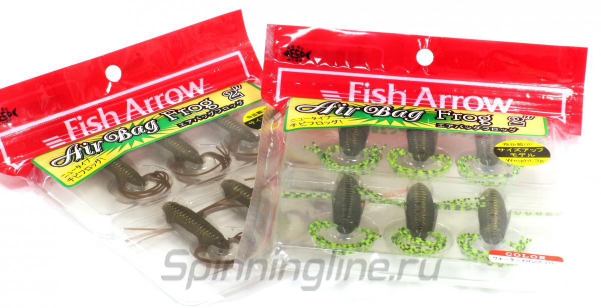"""Приманка Fish Arrow AirBag Frog 1.8"""" 01 Green Pumpkin Pepper - Данное фото демонстрирует вид упаковки, а не товара. Товар на фото может отличаться по цвету, комплектации и т.д. Дизайн упаковки может быть изменен производителем 1"""