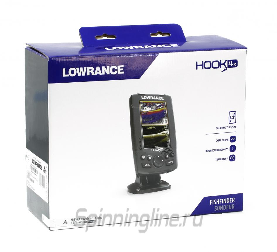 Эхолот Lowrance Hook-4x Mid/High/DownScan - фотография упаковки 1