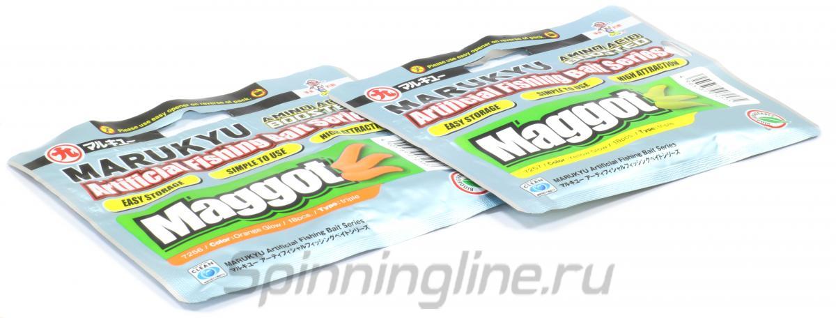 Приманка Marukyu Maggot Yellow Glow - Данное фото демонстрирует вид упаковки, а не товара. Товар на фото может отличаться по цвету, комплектации и т.д. Дизайн упаковки может быть изменен производителем 1
