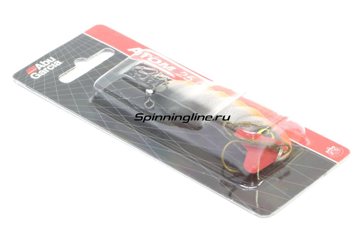 Блесна Abu Garcia Atom 25гр RH/Pearl - Данное фото демонстрирует вид упаковки, а не товара. Товар на фото может отличаться по цвету, комплектации и т.д. Дизайн упаковки может быть изменен производителем 1