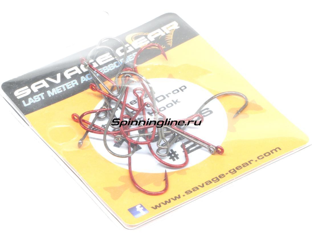 Крючок Savage Gear Finezze Standout Drop Shot №4 - Данное фото демонстрирует вид упаковки, а не товара. Товар на фото может отличаться по цвету, комплектации и т.д. Дизайн упаковки может быть изменен производителем 1