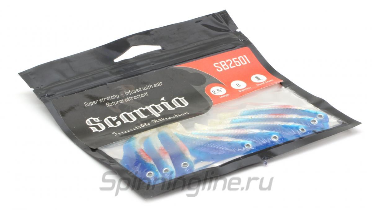 Приманка Scorpio SB2501 60 011 squid - Данное фото демонстрирует вид упаковки, а не товара. Товар на фото может отличаться по цвету, комплектации и т.д. Дизайн упаковки может быть изменен производителем 1