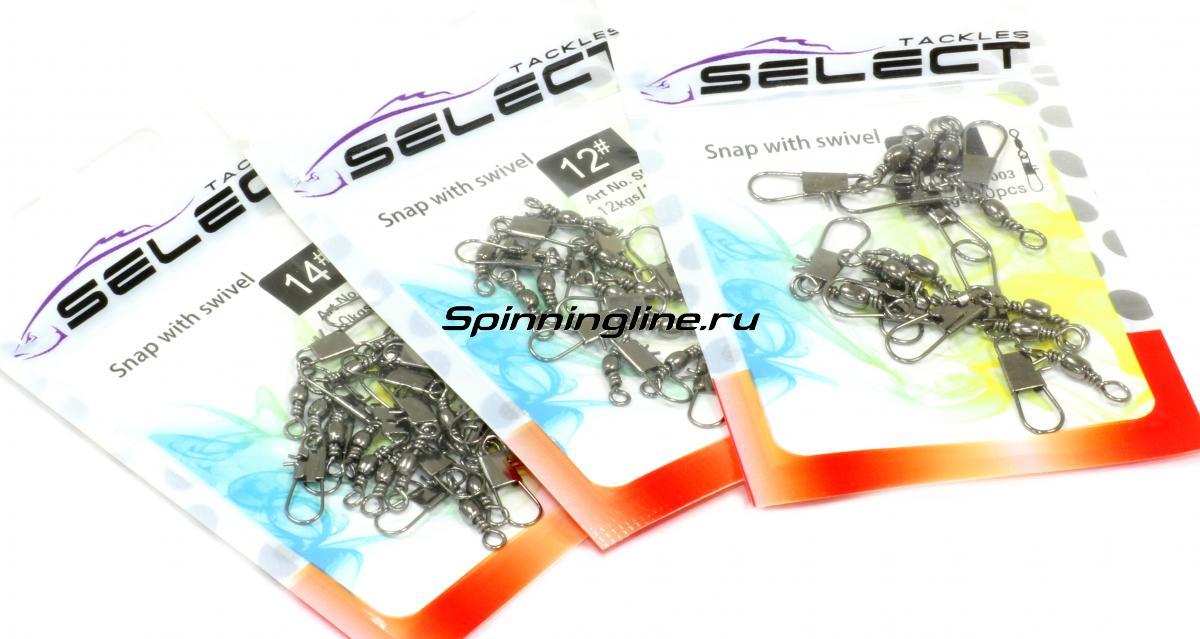 Вертлюг с карабином Select SF003 №4 - Данное фото демонстрирует вид упаковки, а не товара. Товар на фото может отличаться по цвету, комплектации и т.д. Дизайн упаковки может быть изменен производителем 1