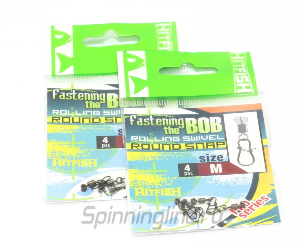 Скользящий крепеж для поплавка Hitfish Fastening The Bob Round Snap S - Данное фото демонстрирует вид упаковки, а не товара. Товар на фото может отличаться по цвету, комплектации и т.д. Дизайн упаковки может быть изменен производителем 1