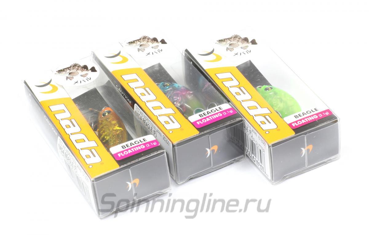 Воблер Nadar Beagle F Clear Orange Gold Glitter - Данное фото демонстрирует вид упаковки, а не товара. Товар на фото может отличаться по цвету, комплектации и т.д. Дизайн упаковки может быть изменен производителем 1