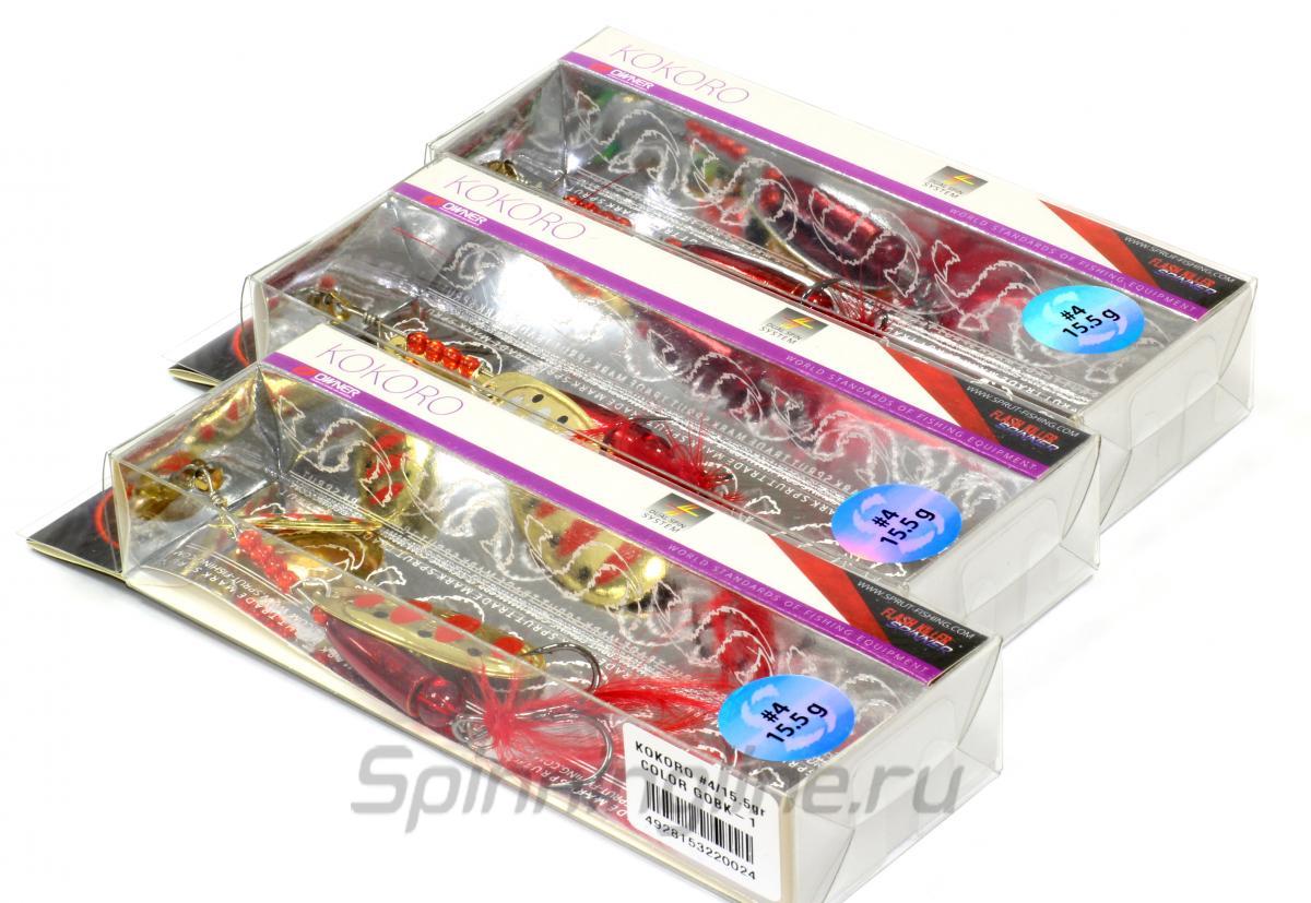 Блесна Sprut Kokoro Spinner 4 GOBK - Данное фото демонстрирует вид упаковки, а не товара. Товар на фото может отличаться по цвету, комплектации и т.д. Дизайн упаковки может быть изменен производителем 1