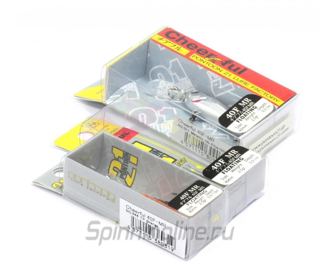 Воблер Pontoon21 Cheerful 34SP-SR R44 - Данное фото демонстрирует вид упаковки, а не товара. Товар на фото может отличаться по цвету, комплектации и т.д. Дизайн упаковки может быть изменен производителем 1