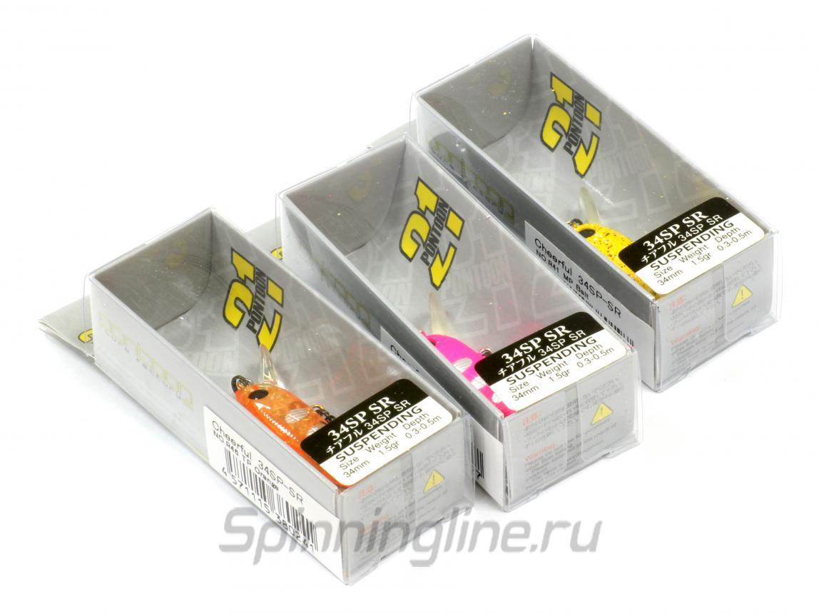 Воблер Pontoon21 Cheerful 34SP-SR R44 - Данное фото демонстрирует вид упаковки, а не товара. Товар на фото может отличаться по цвету, комплектации и т.д. Дизайн упаковки может быть изменен производителем 2