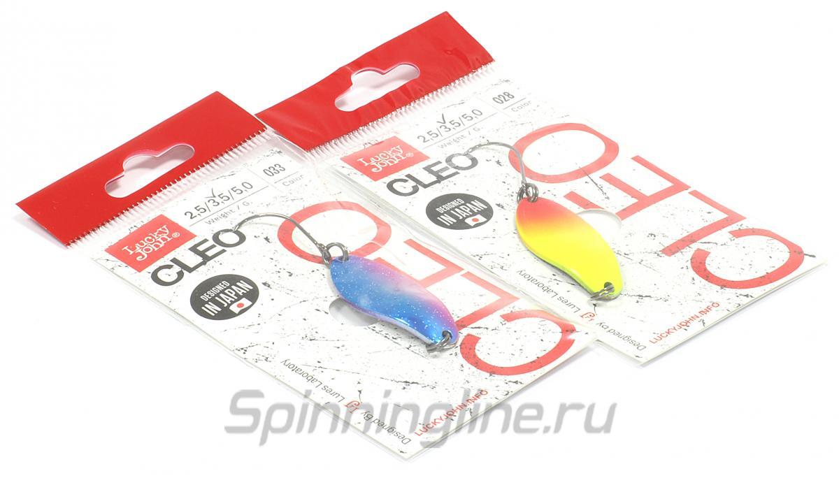 Блесна Lucky John Cleo 31 032 - Данное фото демонстрирует вид упаковки, а не товара. Товар на фото может отличаться по цвету, комплектации и т.д. Дизайн упаковки может быть изменен производителем 1