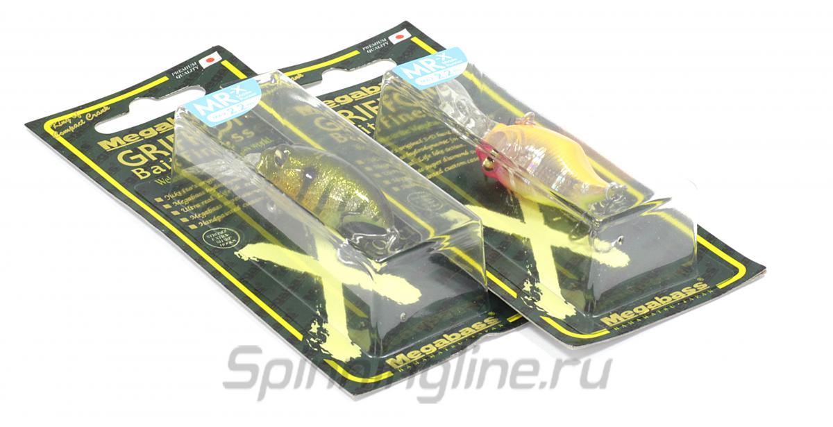 Воблер Megabass Griffon Bait Finesse MR-X Mat Tiger - Данное фото демонстрирует вид упаковки, а не товара. Товар на фото может отличаться по цвету, комплектации и т.д. Дизайн упаковки может быть изменен производителем 1