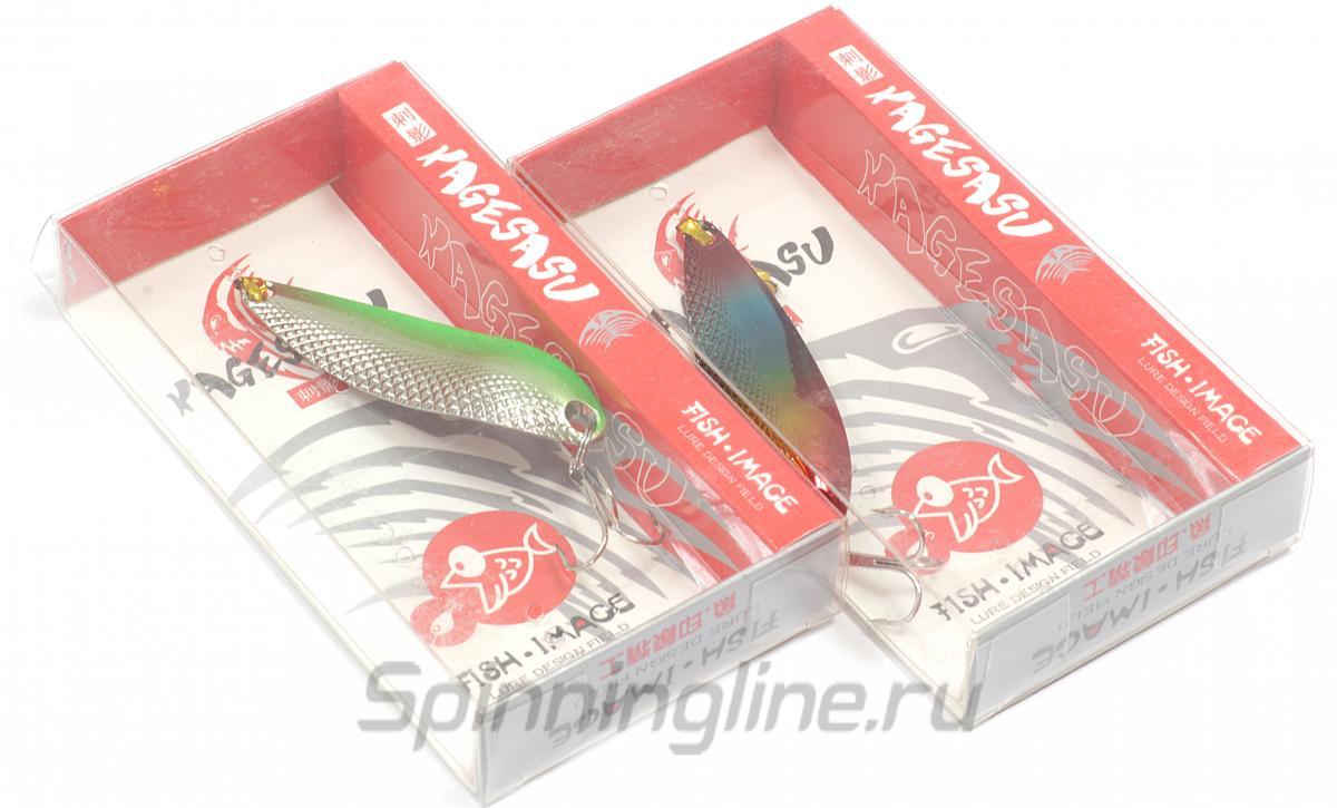 Блесна Fish Image Kagesasu 9,8 гр Silver Gold - Данное фото демонстрирует вид упаковки, а не товара. Товар на фото может отличаться по цвету, комплектации и т.д. Дизайн упаковки может быть изменен производителем 1