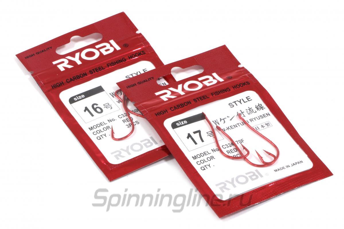 Крючок W-Kentuki Ryusen Flatted Red №14 - фотография упаковки (дизайн упаковки может быть изменен производителем) 1