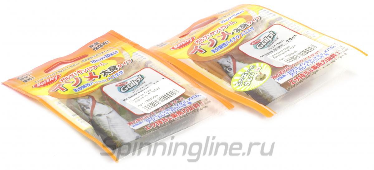 """Приманка Berkley Gulp Sandworm 4"""" NSW - Данное фото демонстрирует вид упаковки, а не товара. Товар на фото может отличаться по цвету, комплектации и т.д. Дизайн упаковки может быть изменен производителем 1"""