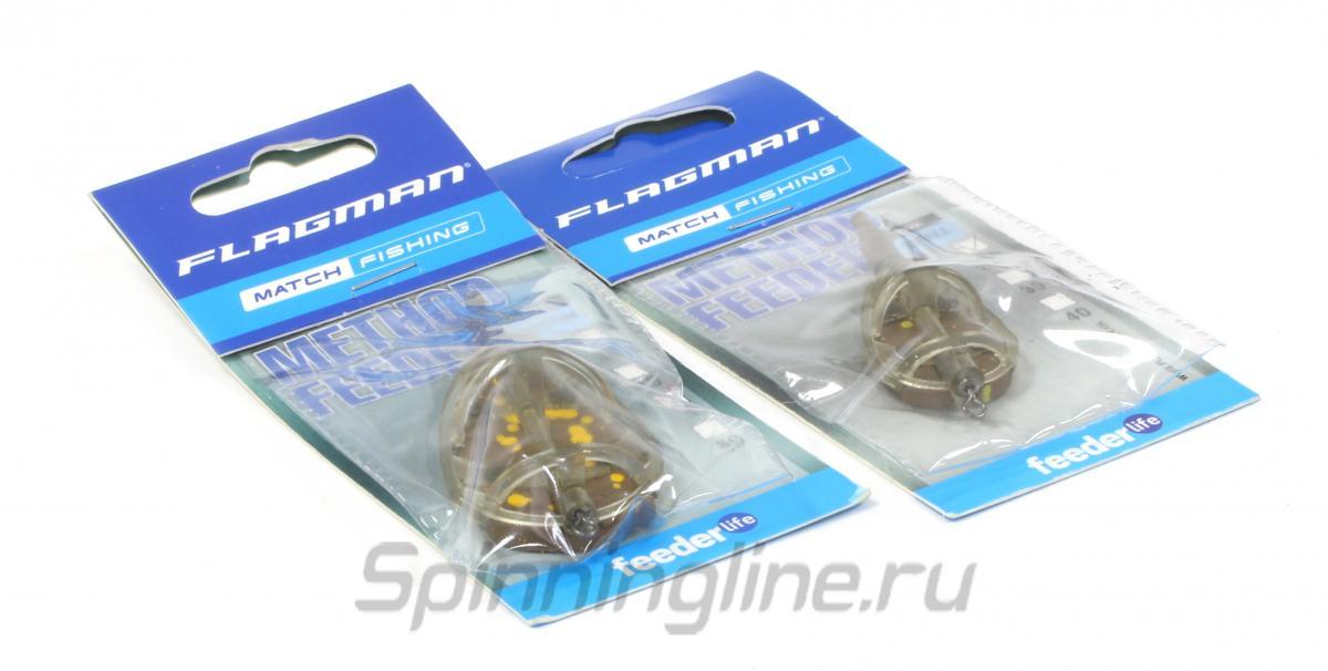 Кормушка Flagman Flat Feeder Medium 40гр New - фотография упаковки (дизайн упаковки может быть изменен производителем) 1