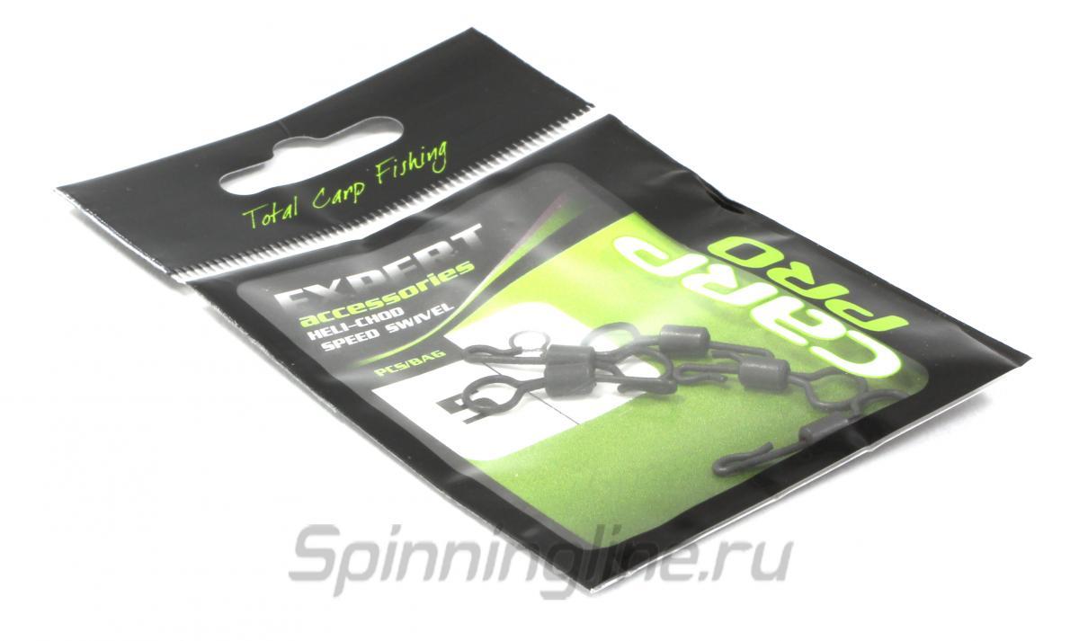 Быстросъмный вертлюг Carp Pro Heli-Сhod Sp. Swivel - фотография упаковки (дизайн упаковки может быть изменен производителем) 1