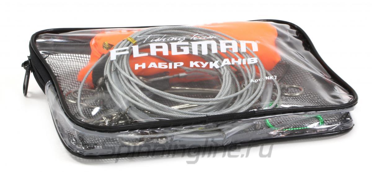 Кукан Flagman на 7 застежек с поплавком - Данное фото демонстрирует вид упаковки, а не товара. Товар на фото может отличаться по цвету, комплектации и т.д. Дизайн упаковки может быть изменен производителем 1