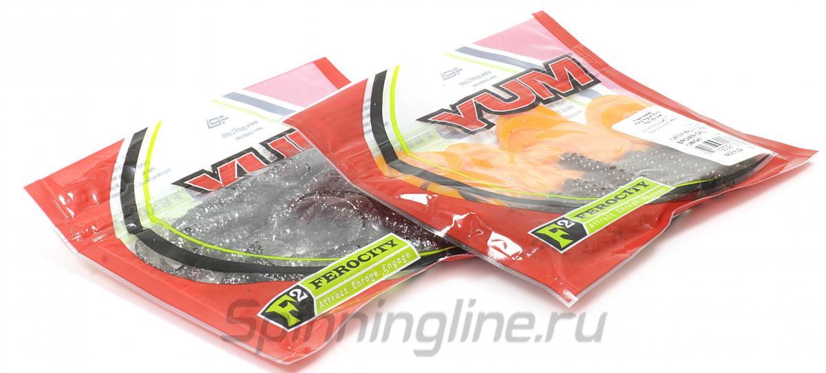 """Приманка Yum Walleye Grub F2 4"""" Brown Orange - Данное фото демонстрирует вид упаковки, а не товара. Товар на фото может отличаться по цвету, комплектации и т.д. Дизайн упаковки может быть изменен производителем 1"""