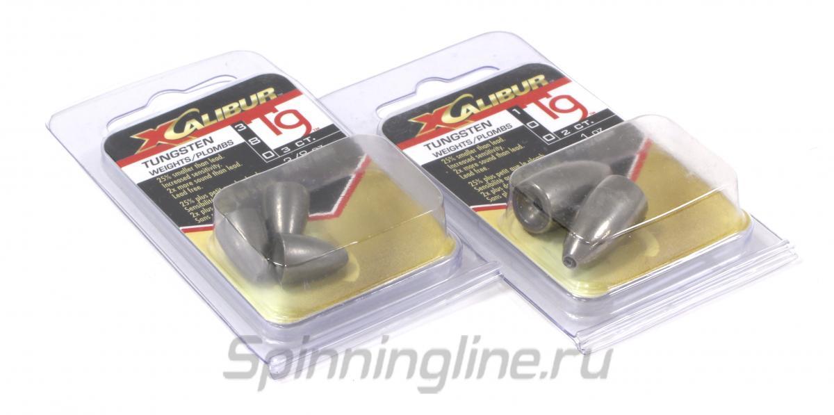 Груз Xcalibur Tungsten Weights - Bullet 3/8oz - Данное фото демонстрирует вид упаковки, а не товара. Товар на фото может отличаться по цвету, комплектации и т.д. Дизайн упаковки может быть изменен производителем 1