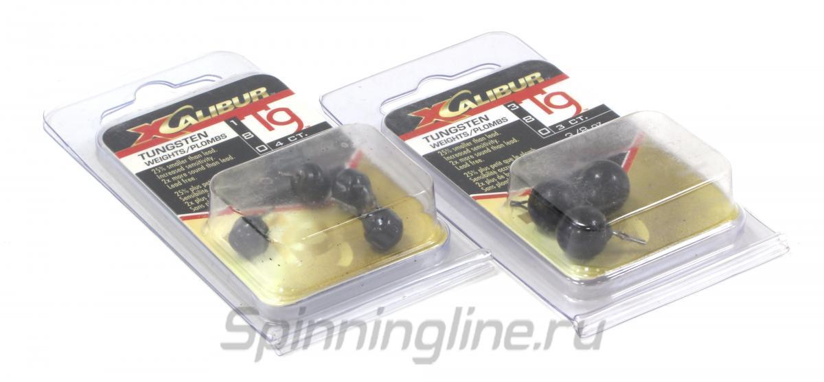 Груз Xcalibur Tungsten Weights - Drop Shots 3/16oz - Данное фото демонстрирует вид упаковки, а не товара. Товар на фото может отличаться по цвету, комплектации и т.д. Дизайн упаковки может быть изменен производителем 1